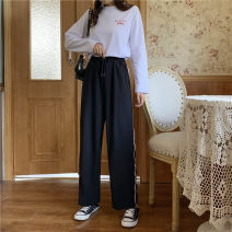 Women's large Summer 2021 Black light blue M [85-95 Jin] l [95-110 Jin] XL [110-130 Jin] 2XL [130-150 Jin] trousers singleton  commute easy moderate Solid color Korean version MKD-XW7702 Mikedo 18-24 years old 51% (inclusive) - 70% (inclusive) Other 100% Pure e-commerce (online only) trousers
