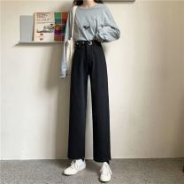 Women's large Spring 2021 black S [75-85 Jin] m [85-95 Jin] l [95-110 Jin] XL [110-130 Jin] 2XL [130-150 Jin] 3XL [150-170 Jin] 4XL [170-200 Jin] Jeans singleton  commute easy moderate Solid color Korean version Denim MKD-MD99421A Mikedo 18-24 years old 71% (inclusive) - 80% (inclusive) Other 100%