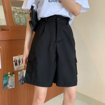 Women's large Spring 2021 Black dark brown S [75-85 Jin] m [85-95 Jin] l [95-110 Jin] XL [110-130 Jin] 2XL [130-150 Jin] 3XL [150-170 Jin] 4XL [170-200 Jin] trousers singleton  commute easy moderate Solid color Korean version MKD-QG9107 Mikedo 18-24 years old Other 100% Pure e-commerce (online only)