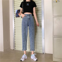 Women's large Spring 2021 blue S [75-85 Jin] m [85-95 Jin] l [95-110 Jin] XL [110-130 Jin] 2XL [130-150 Jin] 3XL [150-170 Jin] 4XL [170-200 Jin] Jeans singleton  commute easy moderate Solid color Korean version Denim MKD-MD9933 Mikedo 18-24 years old Other 100% Pure e-commerce (online only)