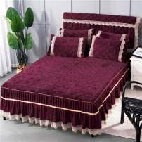 Bed skirt Others -Sapphire-87, j-red-j26, scarlet-7, q-lake blue-70, o-gray-67, - camel-1, - purple-f65, light bean paste-c41 Other / other Solid color Qualified products R83273