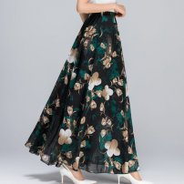 skirt Summer 2020 M (for 80-100 kg), l (for 100-120 kg), XL (for 120-140 kg), 2XL (for 140-160 kg), 3XL (for 160-180 kg) Temperament: bamboo leaf, tulip with black background, dark blue yellow flower, ink bamboo leaf, green lily, elegant gray flower, blue rose, ink peony, warm and comfortable color 9