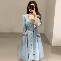 Dress Spring 2020 blue S M L longuette singleton  Long sleeves commute other Loose waist other other other routine Others 18-24 years old Type A Qian Rongchen Korean version 33xnrFD 71% (inclusive) - 80% (inclusive) polyester fiber Polyester 74% other 26% Pure e-commerce (online only)