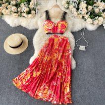 Dress Spring 2021 Black, red, blue, khaki, orange, green, pantyhose Average size 31% (inclusive) - 50% (inclusive)