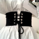 Belt / belt / chain other female Waistband Versatile Single loop Youth other soft surface alloy 12cm The bow is loose and tight Pro Yang 1 elastic cloth back zipper belt sitr5ao3m0eak1 Spring and summer 2011 Black elastic cloth belt 73-83m black 100cm