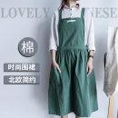 apron Sleeveless apron antifouling Korean version pure cotton Household cleaning Average size F645