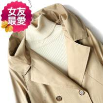 Parent child fashion khaki other female Other / other S,M,L Type * undetermined spring and autumn leisure time routine Solid color loose coat cotton S,M,L Y-78 other S,M,L 2 years old Chinese Mainland