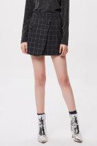 skirt Winter of 2018 S M L XL Black check Short skirt Natural waist Somsomsom / soma