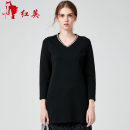 T-shirt Blue B1, black A1 160/84A/S,165/88A/M,170/92A/L,170/96A/XL Autumn of 2018 Nine point sleeve V-neck Self cultivation Medium length commute cotton 71% (inclusive) - 85% (inclusive) 25-29 years old literature Vivian Liu / Hongying R1857305