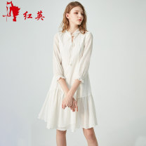 Dress Spring of 2019 Green G1, white W1 160/84A/S,165/88A/M,170/92A/L Short skirt other Nine point sleeve Sweet other low-waisted Socket Ruffle Skirt other Others 25-29 years old Vivian Liu / Hongying Lotus leaf edge Y1914101 51% (inclusive) - 70% (inclusive) cotton Mori