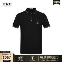 Polo shirt C'N'C Fashion City routine Black, Navy 46,48,50,52,54,56,58 Self cultivation Other leisure summer Short sleeve 811B262103 tide routine youth Viscose (viscose) 79% polyester 21% Animal design other Embroidery Embroidery