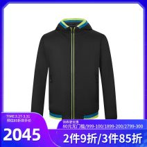 Jacket C'N'C Fashion City black 46,48,50,52,54,56,58 routine Self cultivation Other leisure spring A11B111302 Long sleeves Wear out Hood Basic public routine Zipper placket 2020 Rib hem Closing sleeve Solid color Color matching Zipper bag nylon More than 95%