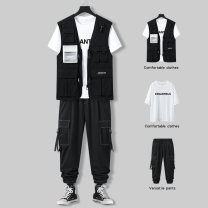 Vest / vest Youth fashion Extraku / yisterku M L XL 2XL 3XL Other leisure easy Leather Vest thin summer No collar teenagers 2021 tide EX641818566778_ DpgLO Geometric pattern No button, no zipper Cloth hem cotton Cotton 100% other nothing Three dimensional bag 2011 More than 95%
