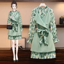 Cosplay women's wear jacket goods in stock Over 14 years old Green suit (two piece set), green vest, green dress comic Tagkita / she and others L suggest 100-120 Jin