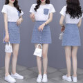 Women's large Summer 2021 Picture color S M L XL 2XL Two piece set commute easy Short sleeve Crew neck routine Three dimensional cutting routine SDS21040415 Sotherson Short skirt Other 100%