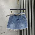 skirt Summer 2021 S M L XL 2XL blue Short skirt commute High waist Denim skirt Solid color Type A 18-24 years old VIP0301-9606 71% (inclusive) - 80% (inclusive) Denim W.S.VIP cotton Pocket button zipper Korean version Cotton 80% other 20% Pure e-commerce (online only)