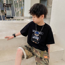 T-shirt White black Zhen Youfan 100 110 120 130 140 150 160 male summer Short sleeve Crew neck leisure time There are models in the real shooting nothing cotton other Cotton 100% MJ21TX7269 Class B other Summer 2021 Four, five, six, seven, eight, nine, ten, eleven, twelve Chinese Mainland