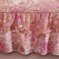 Bed skirt 2 pillowcases for bed skirt 1.2x2m, 2 pillowcases for bed skirt 1.5X2m, 2 pillowcases for bed skirt 1.8x2m, 2 pillowcases for bed skirt 1.8x2.2m and 2 pillowcases for bed skirt 2x2.2m cotton Other / other Plants and flowers First Grade