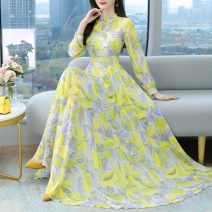 Dress Spring 2021 Yellow green black S M L XL 2XL 3XL 4XL longuette 35-39 years old Jin Renyu JRYNRJ1976 More than 95% other Other 100% Exclusive payment of tmall
