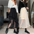 skirt Summer 2021 Average size Apricot, black Mid length dress commute High waist Cake skirt Solid color Type A 18-24 years old MY 51% (inclusive) - 70% (inclusive) Korean version