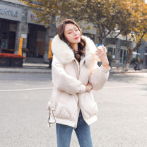 Cotton padded clothes Black, off white, light green M,L,XL,2XL Winter 2020 Other / other have cash less than that is registered in the accounts Long sleeves thickening zipper commute Hood routine Self cultivation Solid color Korean version With fur collar, pocket, zipper cotton other 18-24 years old