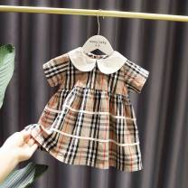 Square Dance Dress XXS,XS,S,M,L,XL Plaid skirt, 8858 short sleeve other Short sleeve Solid color Middle-skirt girl