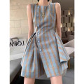 Dress Summer 2020 Picture color (in stock) S M L Short skirt Sleeveless commute square neck High waist lattice 18-24 years old Yan Rujing (costume) lady DD150 More than 95% other Other 100% Pure e-commerce (online only)