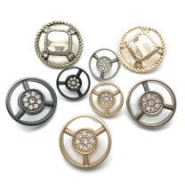 Button Kiss drill Gold Tea Gold mist Gold Silver Black J048 Metal