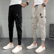 Casual pants Yan Ye other Z trend Club black big pocket black Z trend club side pocket black Z trend Club Leather Pants Black Z trend Club Khaki big pocket light Khaki Z trend Club splicing Green Stripe Black S L M XL 2XL Ninth pants Other leisure Straight cylinder Other 100% Haren pants Spring 2021