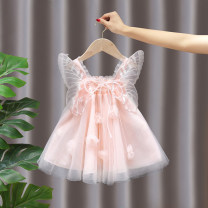 Dress female concise and refined writings 80cm 90cm 100cm 110cm 120cm 130cm Cotton 95% other 5% summer Korean version Strapless skirt Solid color cotton Fluffy skirt other Summer 2021 12 months 18 months 2 years 3 years 4 years 5 years old Chinese Mainland Zhejiang Province Huzhou City