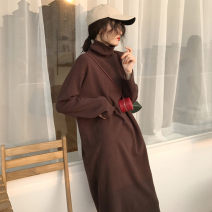 Women's large Winter 2020 Apricot black coffee S M L XL singleton  commute Straight cylinder thick Long sleeves Solid color Korean version High collar routine C2590_* Yugou 18-24 years old 51% (inclusive) - 70% (inclusive) longuette Other 100% Pure e-commerce (online only)