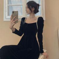 Bag Pendant Black dress s black dress m black dress l Black Dress XL Yugou Winter 2020