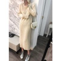 Carrying ring Black s black m black l Black XL gray s gray m gray l gray XL Beige s Beige m Beige l Beige XL Ws1440 high collar wool dress Yugou