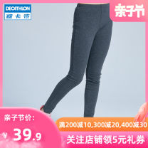 trousers Decathlon / Decathlon female 5-6 years old (113-122cm), 7-8 years old (123-130cm), 8-9 years old (131-140cm), 10-11 years old (141-148cm), 12-13 years old (149-159cm), 14-15 years old (160-166cm) Grey 21 new grey spring and autumn trousers motion There are models in the real shooting other