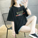 T-shirt 902-a black 902-a white M L XL XXL Summer 2020 Short sleeve Crew neck easy Regular routine commute cotton 51% (inclusive) - 70% (inclusive) 25-29 years old Korean version youth Alphanumeric Love can be reserved 901# Sequin printing three dimensional decoration Pure e-commerce (online only)