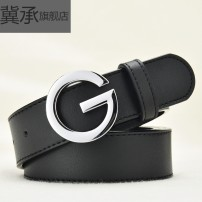 Belt / belt / chain top layer leather Width 2.0cm width 3.0cm width 3.4cm width 3.8cm gold buckle width 3.4cm silver buckle width 3.4cm black buckle width 3.4cm gold buckle width 3.8cm silver buckle width 3.8cm black buckle width 3.8cm belt Versatile Single loop Middle aged youth Smooth button 3.0cm