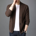 T-shirt / sweater FGN / rich bird Fashion City Gray, black, camel, brown M,L,XL,XXL,XXXL routine Cardigan V-neck Long sleeves spring Straight cylinder 2020 leisure time tide youth routine Solid color No iron treatment Fine wool (16 and 14 stitches) other