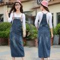 skirt Summer 2020 S M L XL blue Mid length dress Versatile Natural waist Denim skirt Solid color Type H E-309 More than 95% Gu Meng other Hand worn pocket buttons Other 100%