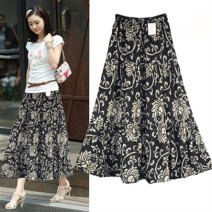 skirt Summer 2020 One size fits all [2'1-2'5] Mid length dress Versatile High waist A-line skirt Decor Type A 40-49 years old More than 95% other Michelie other fold Other 100%