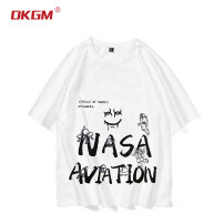 T-shirt Youth fashion White black routine M L XL 2XL 3XL 4XL 5XL 6XL 7XL 8XL dkgm Short sleeve Crew neck easy Other leisure summer DKGM-KW22129 Cotton 100% teenagers routine tide Cotton wool Summer 2021 Cartoon animation printing cotton Creative interest No iron treatment