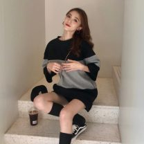 Women's large Spring 2021 Black grey S M L Dress singleton  commute Conjoined Korean version Janet (costume) 18-24 years old Other 100% Pure e-commerce (online only)