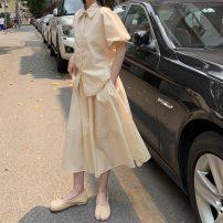 Fashion suit Summer 2021 Average size Green suit, apricot suit GT2100B-815【YG9】H1 cotton