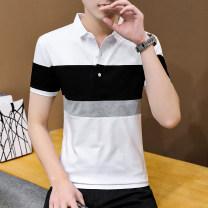 Polo shirt Other / other Business gentleman routine White, black, light grey, dark grey M,L,XL,2XL,3XL,4XL Self cultivation business affairs summer