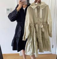 Windbreaker Autumn 2020 S, M Black, off white Long sleeves routine Medium length zipper Hood