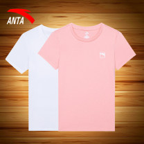 Sports T-shirt Anta XS S M L XL 2XL Short sleeve female ninety-nine Crew neck routine Moisture absorption, perspiration, quick drying, super light, breathable, super elastic Summer 2021 Brand logo design letter Sports & Leisure Sports life Cotton polyester yes
