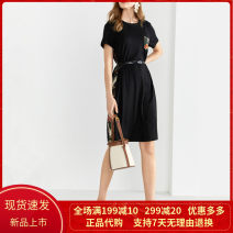 Dress Summer 2021 black S/36/155,M/38/160,L/40/165,XL/42/170,XXL/44/175 Middle-skirt singleton  Short sleeve commute Crew neck middle-waisted Solid color Socket other routine Others 30-34 years old Type A Sound Ol style 8C50205676 More than 95% other other