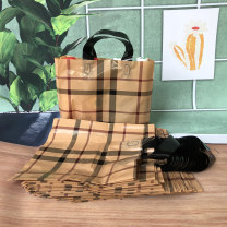 Gift bag / plastic bag Apricot square, black double C, gold double C 50 / pack Small 27 * 27 + side 8