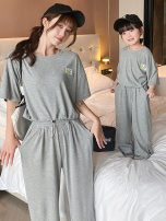 Parent child fashion Grey orange Women's dress female Ciel & Dora / shire and Dora 90cm 100cm 110cm 120cm 130cm 140cm mom s mom M CDY62717 summer Korean version routine Solid color suit cotton M S CDY62717 Summer 2021 Chinese Mainland