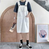 skirt Summer 2020 S [80-95 Jin], m [95-105 Jin], l [105-115 Jin], XL [115-130 Jin], 2XL [130-145 Jin], 3XL [145-160 Jin], 4XL [160-175 Jin], 5XL [175-200 Jin] White, black Mid length dress commute High waist Strapless skirt Solid color Type A 18-24 years old