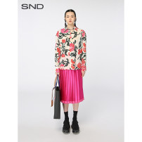 skirt Spring 2021 02 Meihong (spot) 100 % real silk Mid length dress Natural waist COMS21S13_ 0504(36) More than 95% sndstyle other Other 100% Same model in shopping mall (sold online and offline)